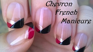 No tool chevron French manicure tutorial - Video