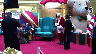 Santa Brings Daddy Home For Christmas - Video