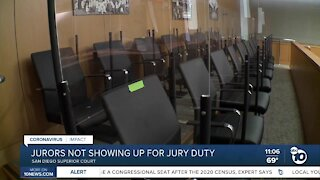 Juror turnout low for second straight week in San Diego