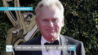 Pat Sajak Tweets A Subtle Jab At CNN - Video
