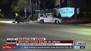 Motorcyclist killed in crash near Spring Mountain and Buffalo - Video