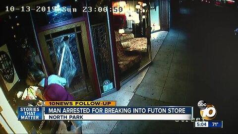 Man arrested for breaking into North Park store
