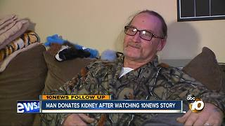 Man donates kidney after watching 10News story - Video