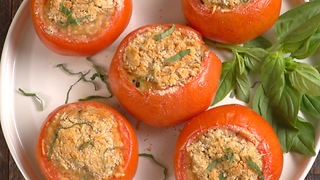 Sausage-stuffed tomatoes