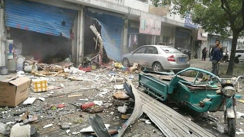 Large Explosion in China's Port City of Ningbo Causes Casualties