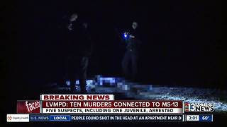 10 murders connected to MS-13 gang - Video