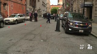 County police officers involved in shooting in Downtown Baltimore