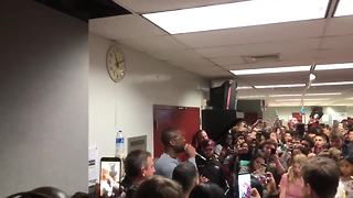 Former Marquette basketball star Dwyane Wade visits Stoneman Douglas High School - Video