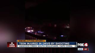 Teen injured in Cape Coral drive-by shooting - Video