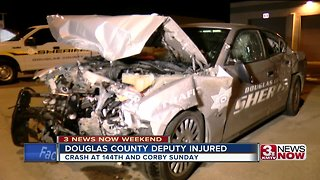 Douglas County deputy injured in crash Sundau