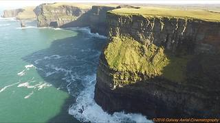 Breathtaking aerial footage of World Famous Cliffs of Moher - Video