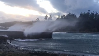 Strong Winds Lash Western Washington State - Video
