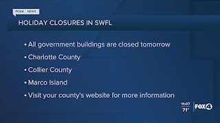 Local holiday closures for Friday