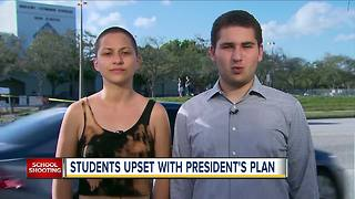 Survivors of deadly Florida school shooting lash out at Trump