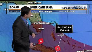 5 a.m. Tuesday update: Hurricane Irma's winds increase to 150 mph - Video