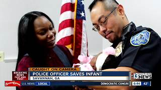 Georgia police officer saves infant - Video