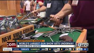World's largest gun show starts at Sands Expo Center - Video