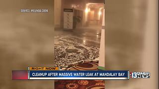 Water leak causes flooding at Mandalay Bay Convention Center - Video