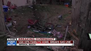 Minivan crashes into home in Imperial Beach - Video