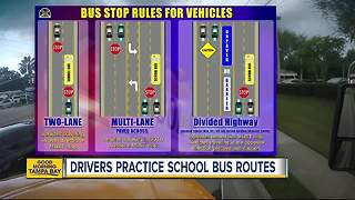 Bus drivers practice routes before heading back to school - Video