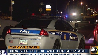 Phoenix Police Department considering ways to increase officers on the street - Video