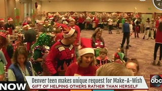 Denver teen makes unique request for Make-A-Wish - Video