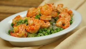 Lemongrass Shrimp with Spring Pea Salad - Video