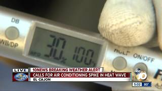 Calls for air conditioning spike in heat wave - Video