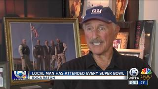 Boca Raton Resident is Part of a Group That Has Attended Every Super Bowl - Video