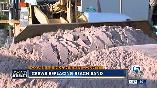 Crews replacing beach sand in Indian River County