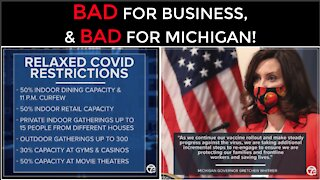 New COVID-19 Restrictions In Michigan! Whitmer HATES Small Businesses!