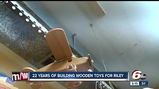 Man has been building wooden toys for patients at Riley Hospital for Children for 22 years - Video