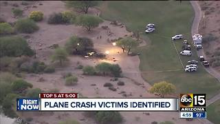 Six victims in Scottsdale plane crash identified