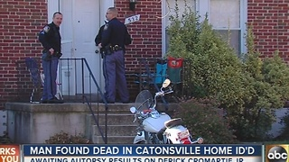 Man found dead in Catonsville home ID'd - Video