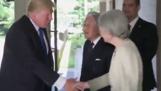 [1280x720] Donald Trump greets Japanese Emperor with gentle handshake  World  News  Express.co.uk (1) - Video