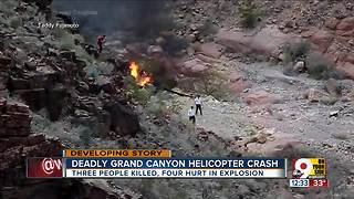 Deadly Grand Canyon helicopter crash - Video