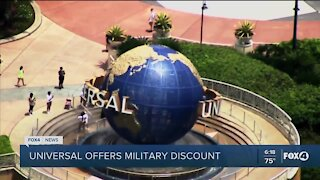 Universal offering military discount
