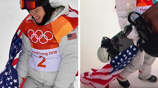 Shaun White SLAMMED for Dragging & Stepping on American Flag After Epic Snowboard Run - Video