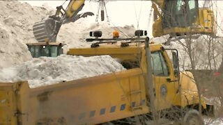 Local municipalities work to remove snow after winter storm