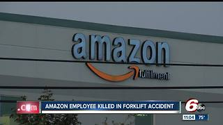 Amazon worker killed during forklift accident in Plainfield - Video