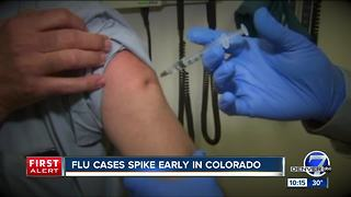 Flu sends three times more people to hospital - Video
