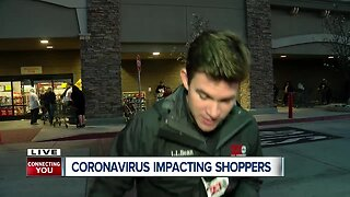 Northwest Bakersfield stores restock shelves as early-morning shoppers line-up amid coronavirus outbreak
