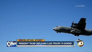 president trump deploying 5,200 troops to border