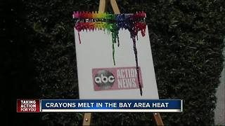 Making crayon art in the Tampa Bay heat - Video