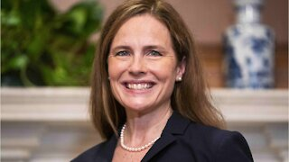 Justice Amy Coney Barrett Sworn In By Chief Justice Roberts