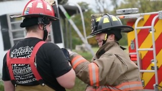 Inspiring Volunteer Firefighter With Cerebral Palsy