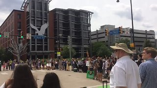 Anti-ICE Protesters Gather Near Homeland Security Offices in Pittsburgh