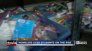 Growing number of homeless students in Las Vegas - Video