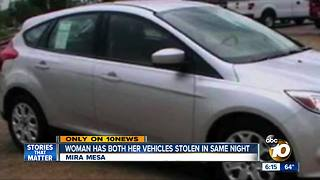 Mira Mesa woman has both her vehicles stolen in same night