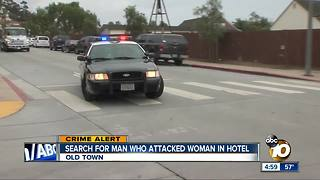 Search for man who attacked woman in hotel - Video